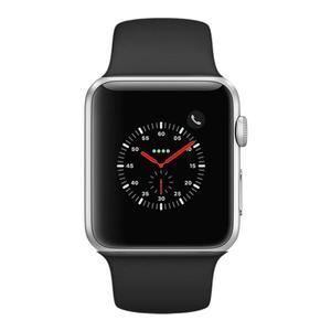 Apple Watch (Series 4) 44mm - Silver Aluminium Case - Black Sport Band