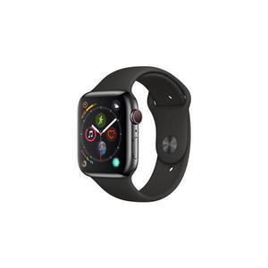 Apple Watch (Series 4) 44mm GPS + Cellular - Space Black Stainless Steel - Black Sport Band