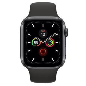 Apple Watch (Series 4) September 2018 44 mm - Aluminium Space Gray - Sport Band Black