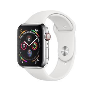 Apple Watch (Series 4) September 2018 44 mm - Aluminum Silver - Sport White
