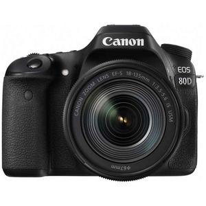 Reflex Canon EOS 80D - Black + Lens Canon EF-S 18-135mm f/3.5-5.6 IS USM - Black